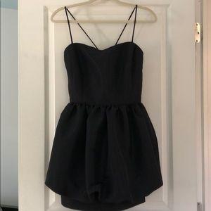 NORDSTROM SWEETHEART NECKLINE BLACK POOF DRESS